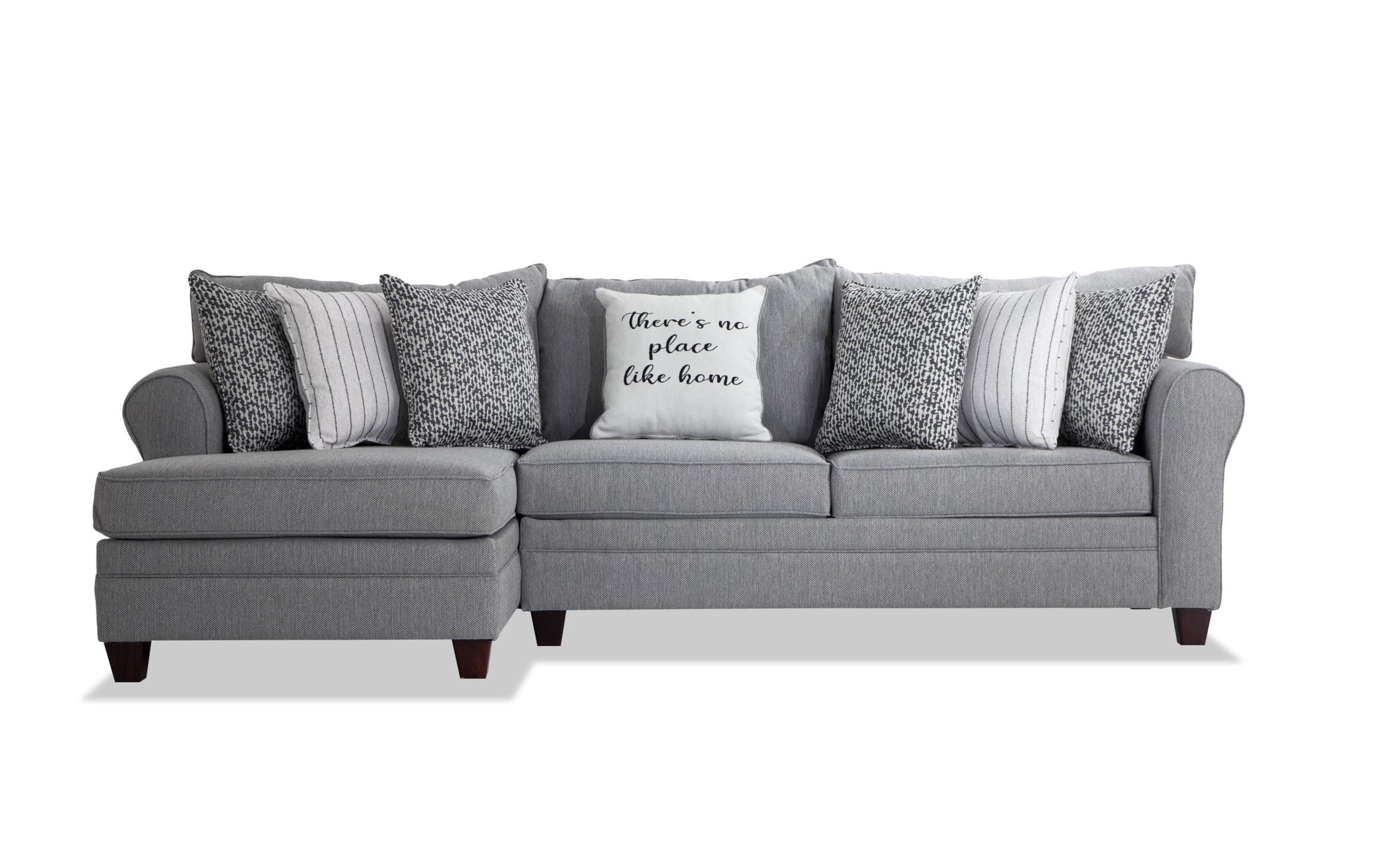 laurel gray 2 piece right arm facing sectional