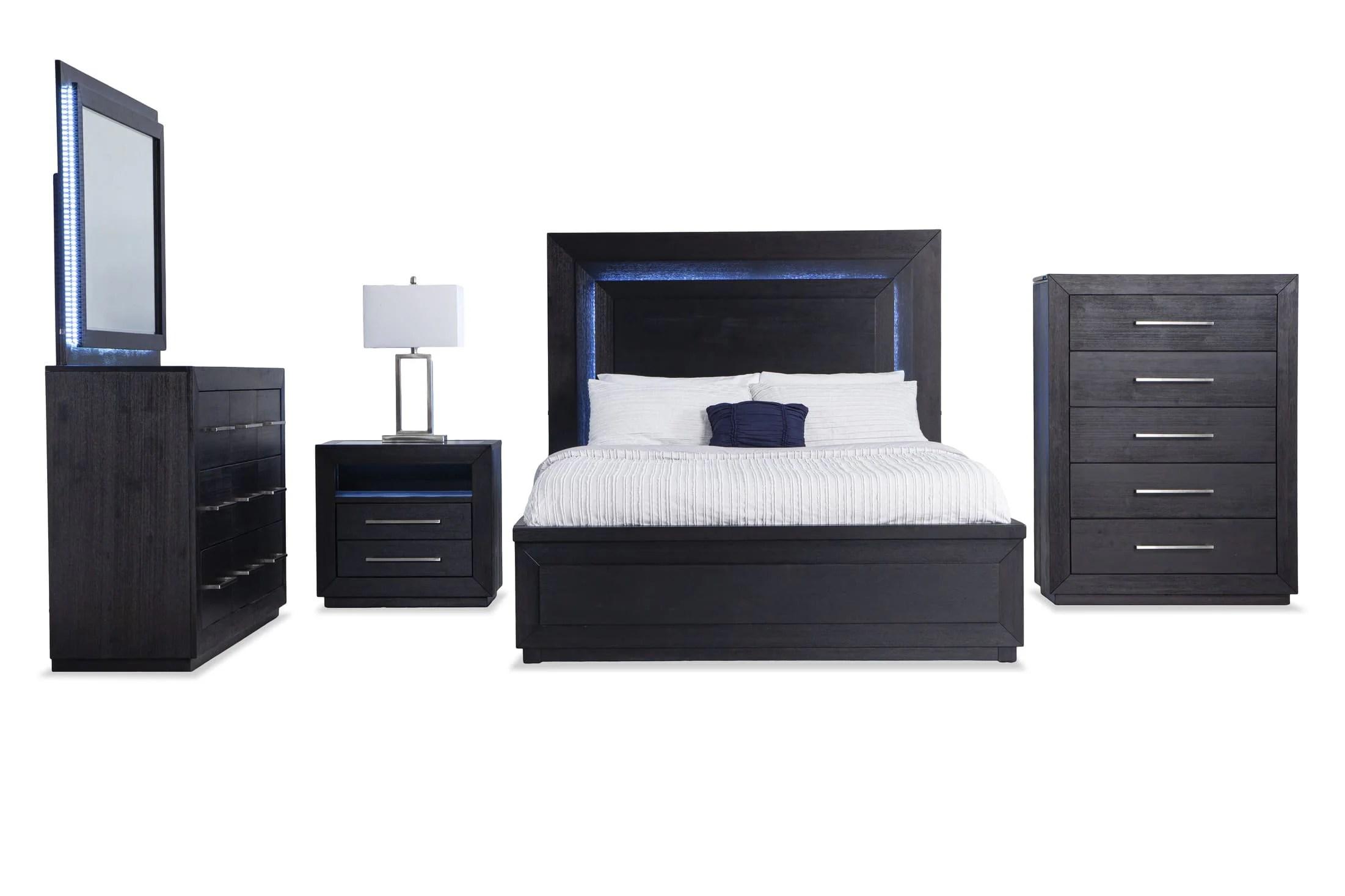 cosmopolitan queen storage bedroom set