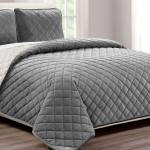 Velvet Twin Gray Coverlet Set Bobs Com