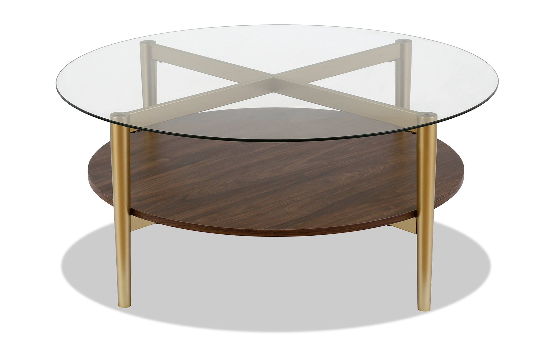 connor walnut coffee table