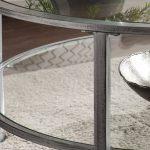 Ria Silver Metal Glass Round Coffee Table Bobs Com