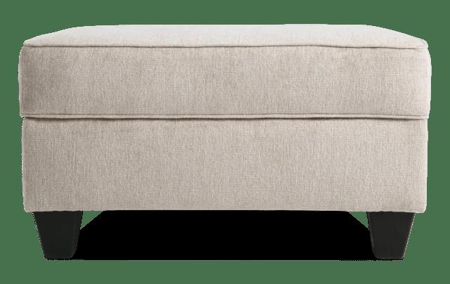 artisan beige oversized chair storage ottoman