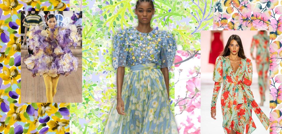 Spring/Summer 2021 Print Trend - Ethereal Flower - Patternbank