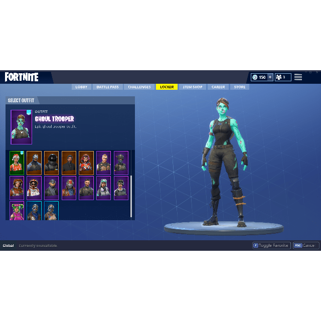 Fortnite Ghoul Trooper Account Scythe Harvesting Tool
