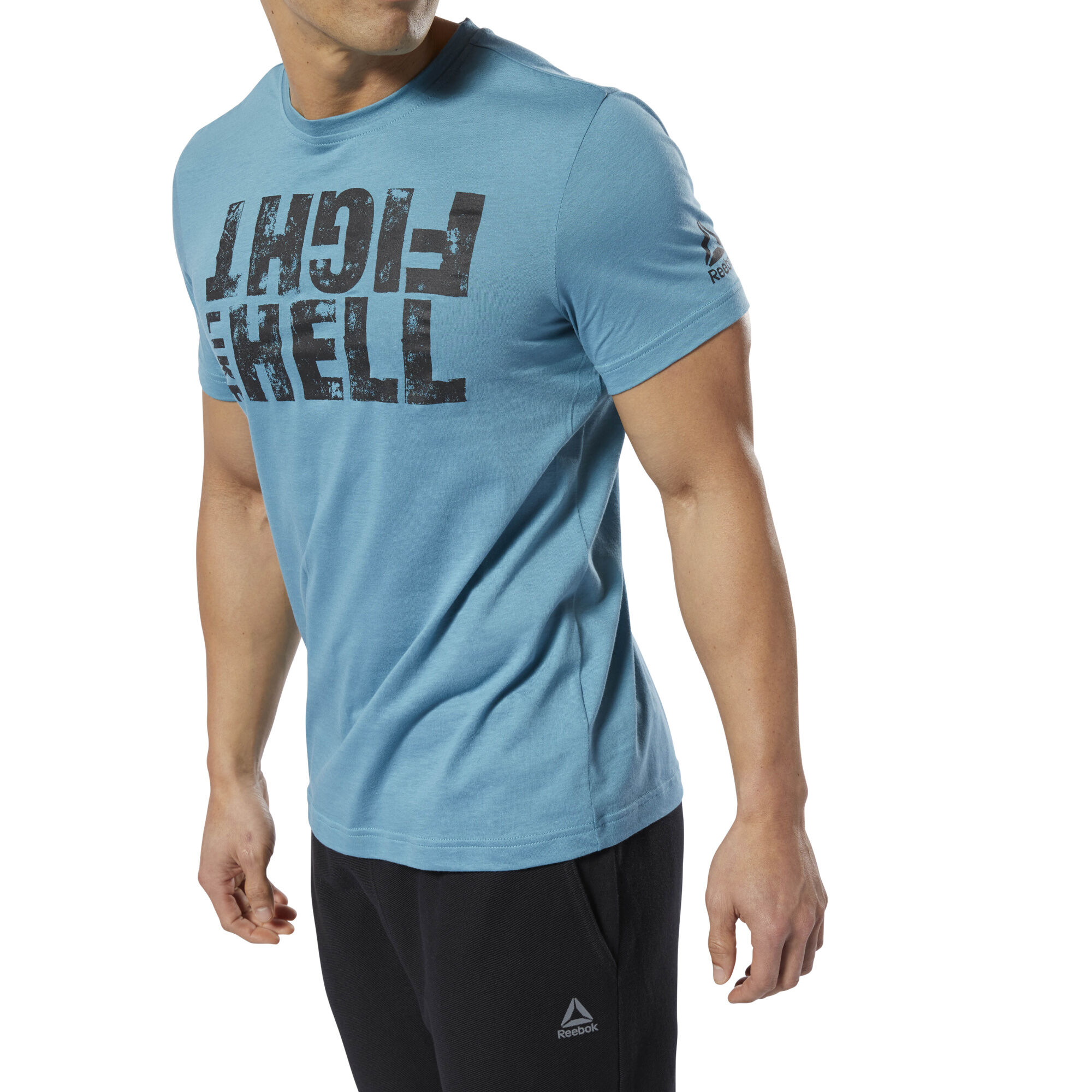 Reebok Men's Fight Like Hell Tee in Mineral Mist Size M - Training Apparel