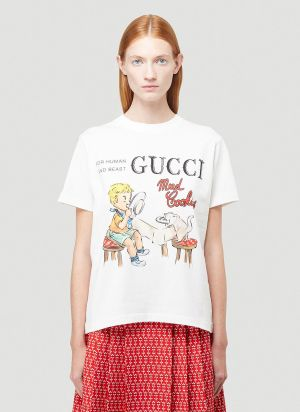 Gucci Mad Cookies T-Shirt in White