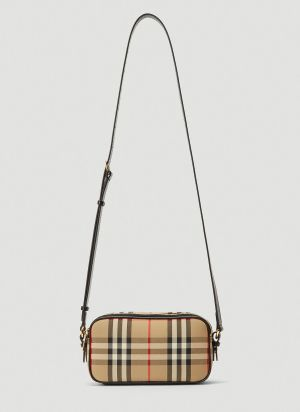Burberry Vintage Check Mini Camera Bag in Beige