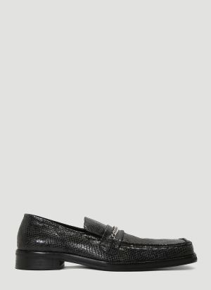 Martine Rose Embossed Loafers in Black