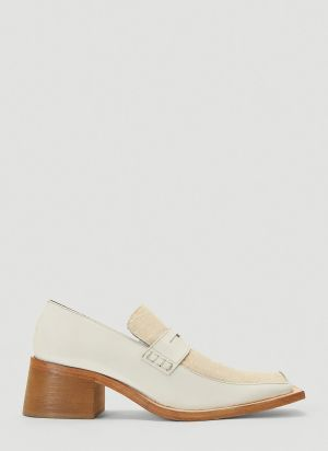 Martine Rose Bagleys Heeled Loafers in White