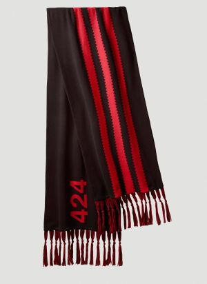 adidas by 424 Contrast-Stripe Scarf in Black