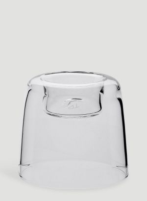TG Small Glass Candle Holder in White