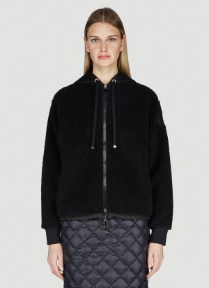 Moncler Maglia Zip-Up Sweatshirt in Black