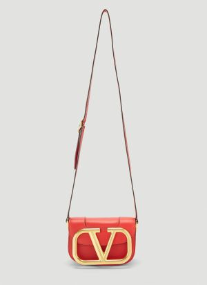 Valentino Supervee Small Shoulder Bag in Red