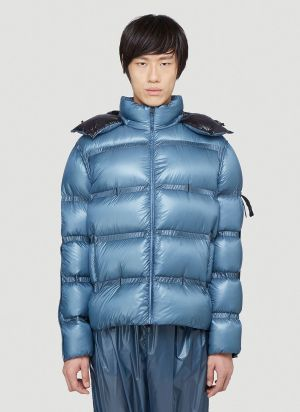 5 Moncler Craig Green Contrast-Panel Down Jacket in Blue