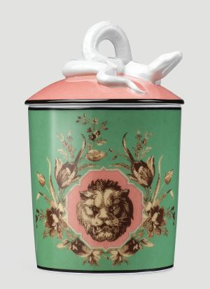 Gucci XL Grotesque Garden Candle in Green