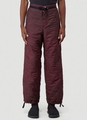 OAMC Quilted Combat Pants in Red
