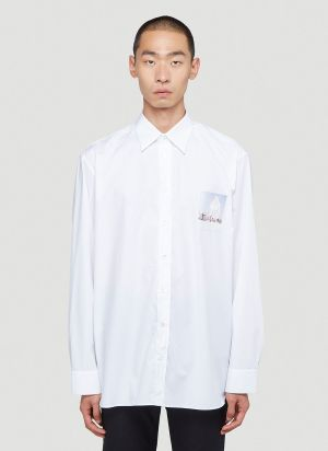 Raf Simons Chest-Patch Shirt in White