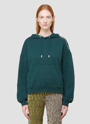 Eckhaus Latta Hooded Sweatshirt in Green