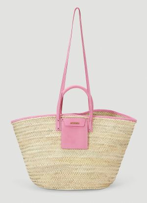 Jacquemus Le Grand Panier Soleil Tote Bag in Pink