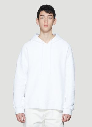 Dust Graphic Print Hooded Sweatshirt in White
