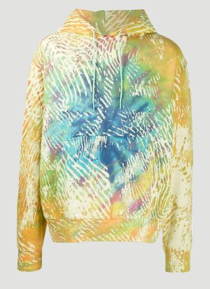 Adidas By Pharrell Williams Tie-Dye Hooded Sweatshirt in Yellow
