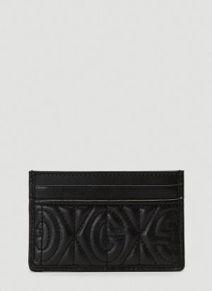 Gucci Quilted Monogram Card Holder in Black