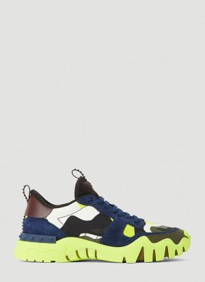 Valentino Camouflage Rockrunner Plus Sneakers in Yellow