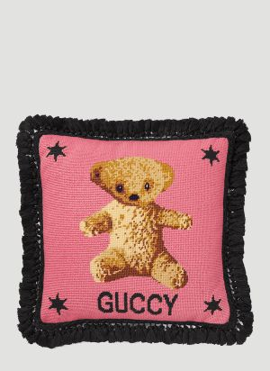 Gucci Teddy Bear Cushion in Pink