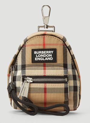 Burberry Backpack Keyring Charm in Beige