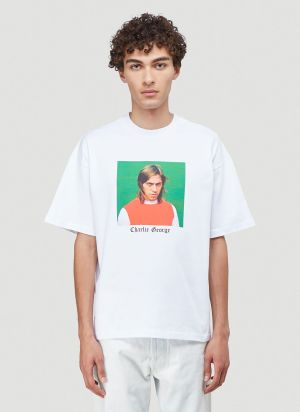 Lack of Guidance X Eighteen86 Charlie T-Shirt in White