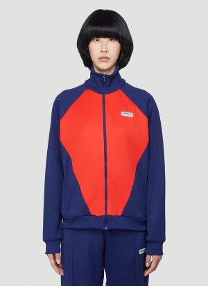 adidas by Lotta Volkova Podium Zip-Up Sweatshirt in Blue