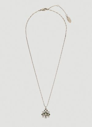 Vivienne Westwood Dalila Bas Relief Necklace in Silver