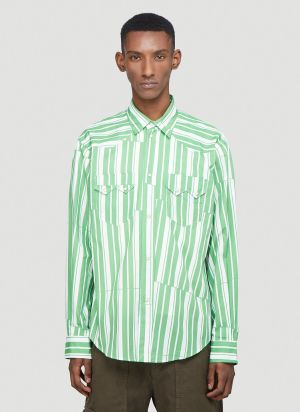 Phipps Striped Shirt in Green