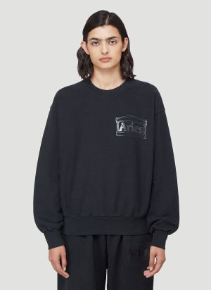 Aries Temple Sweatshirt in Black