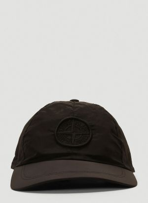 Stone Island Nylon Baseball Cap in Black