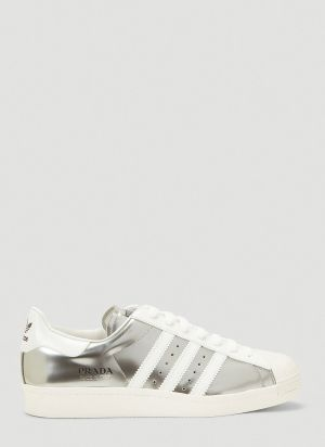 adidas x Prada Prada Superstar Sneakers in Silver