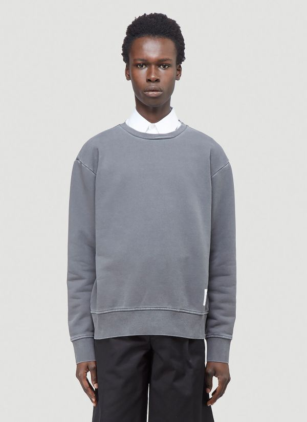 Thom Browne Crewneck Sweatshirt in Grey