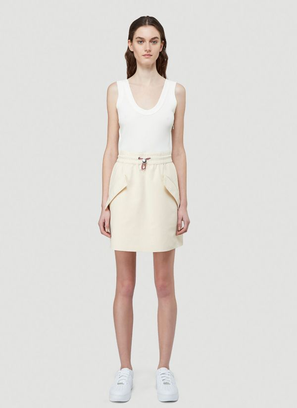 2 Moncler 1952 Contrast-Panel Dress in White