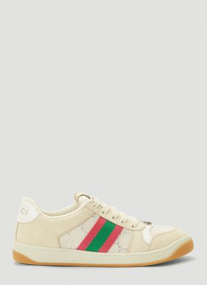 Gucci Screener Sneakers in Beige