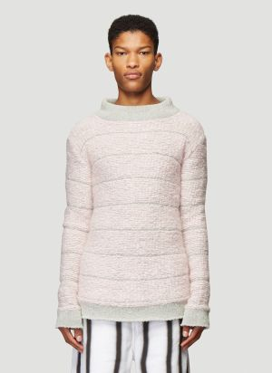 Eckhaus Latta VIP Knit Sweater in Pink