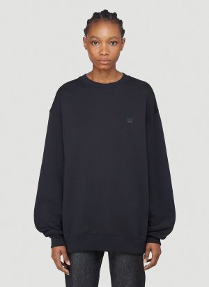 Acne Studios Face Patch Sweatshirt in Black