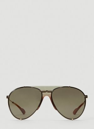 Gucci Aviator Metal Sunglasses in Gold