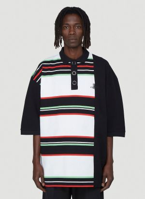 Vivienne Westwood Oversized Striped Polo Shirt in Black