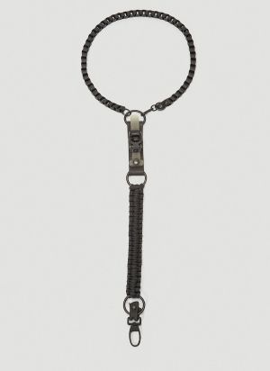 Innerraum Neck Keychain in Black