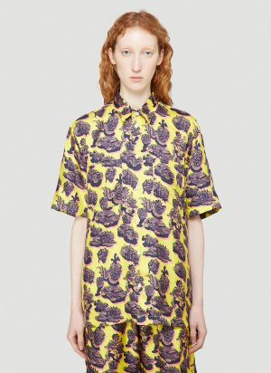 Stella McCartney Ricky Silk Shirt in Yellow