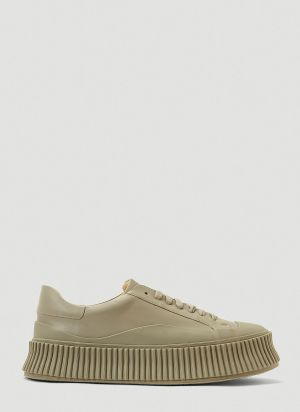 Jil Sander Chunky Sole Sneakers in Green