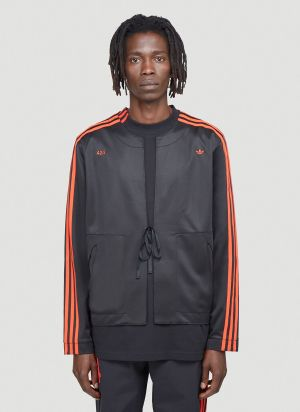 adidas by 424 Kimono Top in Black