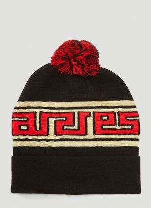 Aries Meandros Beanie Hat in Black