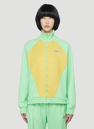 adidas by Lotta Volkova Podium Zip-Up Sweatshirt in Green