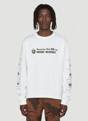 Phipps Smokey Fire Safety Long-Sleeved T-Shirt in White